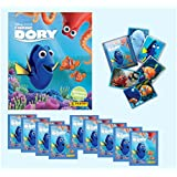 Panini Finding Dory Sticker Starter Pack with Album and 10 Sticker Packs (51 Stickers)