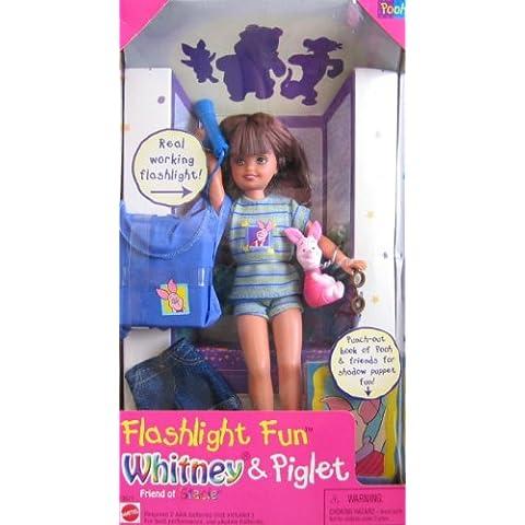 Barbie - Flashlight Fun WHITNEY & Piglet, Friend of Stacie Doll (1997) by Barbie