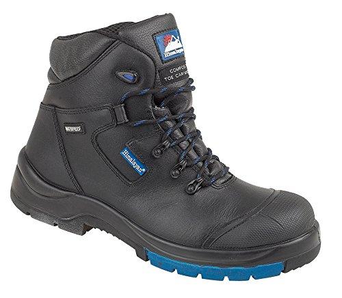 Himalaya 5160– Botas de seguridadcategoría S3 con puntera de metal, suela de goma sintética, talla 35, color negro