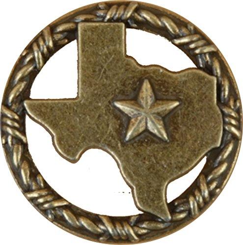 Set von 6Texas mit Ring aus Ring Lone Star Schublade Schrank Pull Southwest Rustikal Texas, 4022