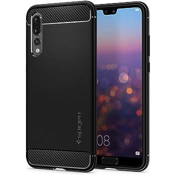 Spigen [Rugged Armor] [Black] Case for Huawei P20 PRO, Original Carbon Fiber Design Shock Absorption Air Cushion Technology Drop Protection Phone Cover for Huawei P20 PRO Case - L23CS23083