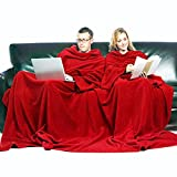 Pack of 2 Batamantas. Blanket with sleeves sofa robe pocket for book control one size