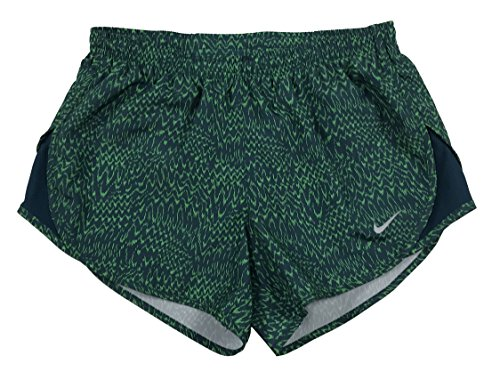 Nike Women's Dri-Fit Allover Print Tempo Running Shorts Green (m)