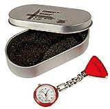 Schwesternuhr Krankenschwesteruhr Uhr Typ Tiga-Med 1 rot Kitteluhr Clipuhr Pulsuhr 1 Stück