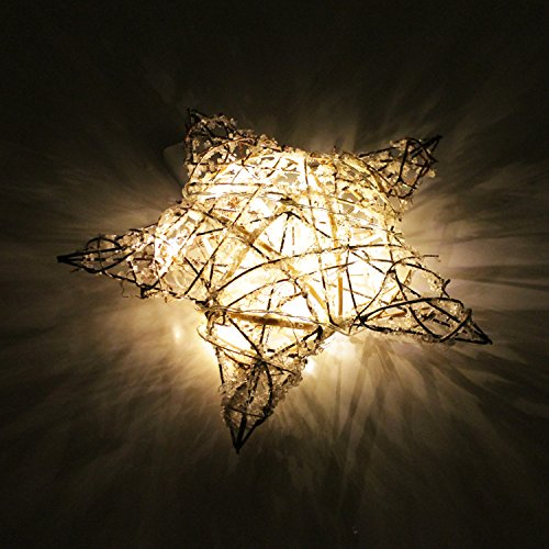 Stella Di Natale A Batteria.Stella Di Natale Illuminata Con Luci A 10 Corde 31cm Alimentato A