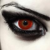 Rosso lenti a contatto colorate per halloween vampiro costume, morbide, non corrette modello: 'Volturi'