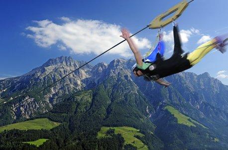 Jochen Schweizer Geschenkgutschein: Flying Fox XXL im Salzburger Land (Fox Flying)