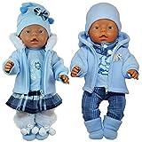 Unbekannt Puppenkleidung 6-TLG Set für Puppe wie z.B. Baby Born bis 43 cm (ohne Puppe) (Set für...