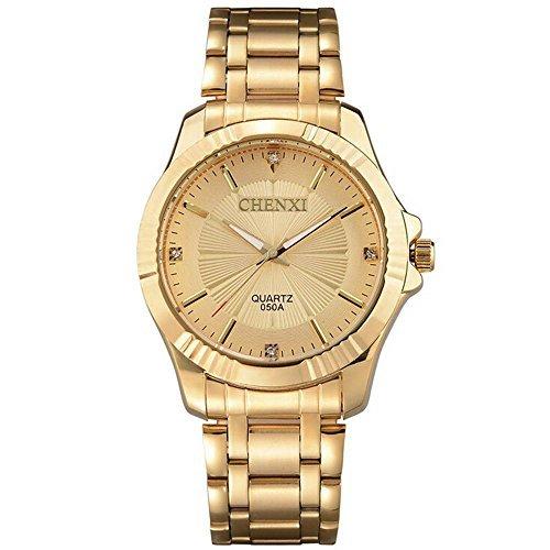 Royal Diamond Design Gold Watch Montre Homme Mens Watches Top Brand Luxury Quartz Watch