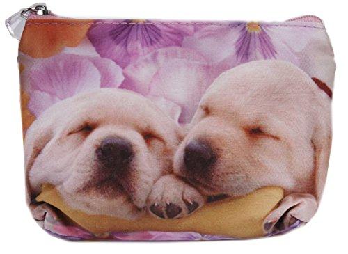 Kleines Täschchen mit Hundemotiv: Labrador Retriever Welpen (Labrador-geldbörse)