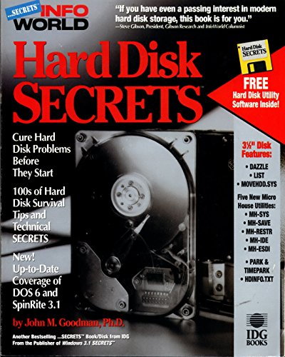 Hard Disk Secrets (Infoworld Secrets/Book and Disk) Cd-disc Repair System