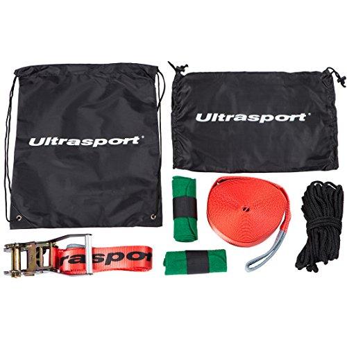 Ultrasport Slackline Set 15 m lang, 5 cm breit - 2
