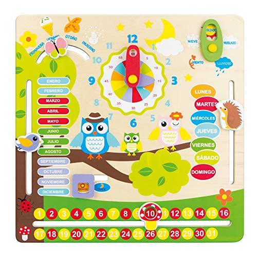 Imagen para WOOMAX- Juego educativo de madera Búhos (ColorBaby 42737)