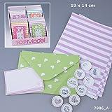 TOPModel Briefpapier mit Stickern grün weiß