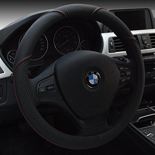"""HCMAX Microfibra Suave Funda para Volante Cubierta del Volante del Vehículo Confortable Protector del Volante del coche Universal Diámetro 38cm (15"""")"""