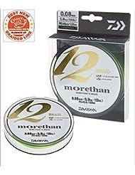 Daiwa Morethan 12 Braid 135m Vert citron - Ligne de pêche tressée