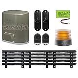 Kit de accesorios para portales, Somfy Elixo 500,3S IO,pack confort con 5m de cremallera de nailon, 30x 20mm