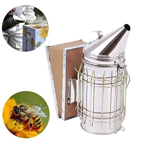 TryESeller Bienenstock Raucher mit Hitzeschild Schutz Beruhigend Imkereiausrüstung