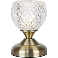 Lampada da tavolo tradizionale e decorative con funzione touch, finitura