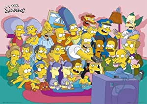 1art1 49513 Die Simpsons - Cast Couch Poster 91 x 61 cm