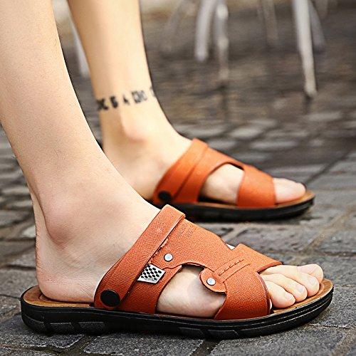 Tongs pour hommes Men's portable, chaussons, les pieds, les chaussures de plage d'été, loisirs, les hommes sandales tendance L665 Brown