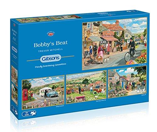 Preisvergleich Produktbild Gibsons Bobby's Beat Jigsaw Puzzles (4 x 500 Pieces)