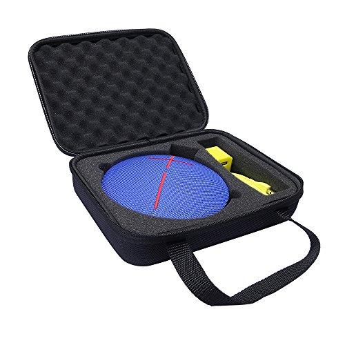 hensych® Stoßfeste Hartschalen-Schutztasche für UE Roll 360Wireless Mobil-Lautsprecher für Outdoor-Sport, Lautsprecher-Tasche auch für Ladegerät / Kabel / Adapter Hard EVA Case