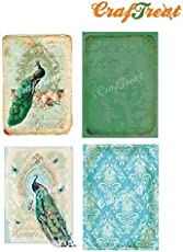 The Craftshop CrafTreat Peacock Decoupage Paper - 8 pcs