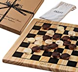 "Draughts Set - 12"" Wooden Draughts Board Game with Pieces - Jaques of London"