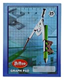 Bittoo Graph Pad Hard Cover Notebook Imprimé 25 pages- pack disponible...