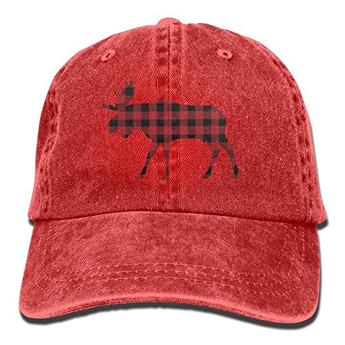 ingshihuainingxiancijies Plaid Buffalo Denim Baseball Caps Hut Einstellbare Cotton Sport-Bügel-Kappe für Männer Frauen