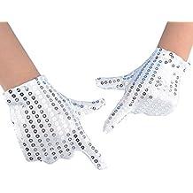jisen para niño disfraz de Dance guantes de lentejuelas de Cosplay de Halloween Edad 3 –
