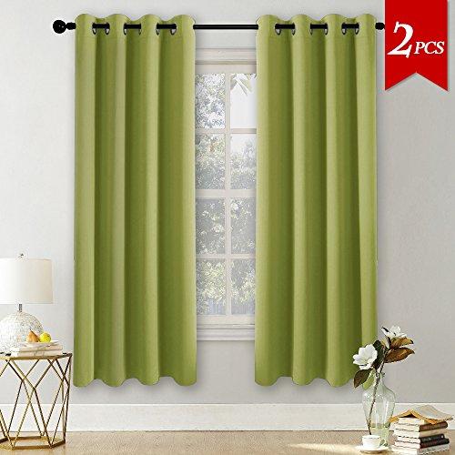 Pony dance tende finestre verdi da sole insonorizzante, 140 x 175 cm (larghezza x lungo), 2 pannelli