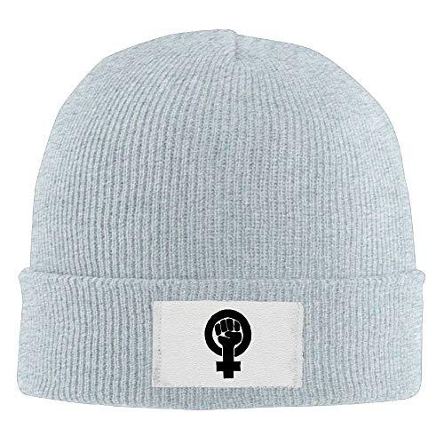Nifdhkw Sombreros de Beanie Puño Feminista Impreso Gorro de Cobertura Slouchy Winter Warm Skull Caps para Hombres Mujeres Multicolor3