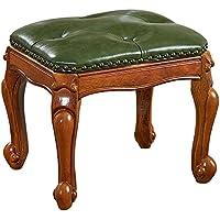 Preisvergleich für OOFAY Europäische Wood Square Short Hocker, QZY Wohnzimmer Sofa Hocker Haushalt Kleine Bank Change Schuhe Hocker,A