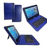 Qwertz Tastatur Tablet Tasche für ASUS TF303K-1B021A Transformer Pad 10.1 mit Standfunktion - Deutsche Tastenbelegung 10 Zoll Blue
