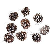 Cosanter - Lote de 6 piñas para decorar el árbol de Navidad