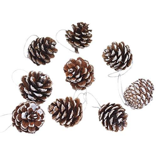 Cosanter 6 pigne natalizie per albero di natale, decorazioni, ornamenti per decorare la casa