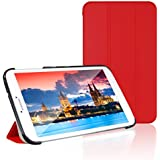 JETech Gold Slim-Fit Smart Case Cover for Samsung Galaxy Tab 3 8.0 (8 Inch) Tablet PC with Auto Sleep/Wake Feature (Red)