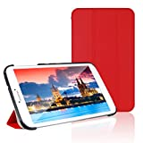 JETech® Gold Slim-Fit Smart Case Cover for Samsung Galaxy Tab 3 8.0 (8 Inch) Tablet PC with Auto Sleep/Wake Feature (Galaxy Tab 3 8.0, Red)