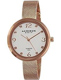 Akribos XXIV AK875RG - Reloj de pulsera para mujeres, color oro