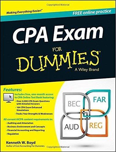 CPA Exam For Dummies Paperback ¨C September 2, 2014