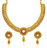#7: YouBella Fashion Jewellery Party and Wedding wear Gold Plated Necklace Jewellery set with Earrings For Girls/Women