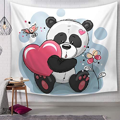 Rjjdd Panda Wandteppich Wandbehang Hippie Wandbehang Boho Hippie BöhmischenwohnheimdekorOderTagesdeckeNordisch 200x150Cm