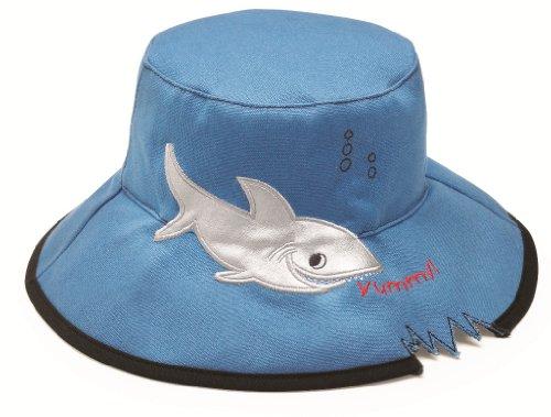Wallaroo Boy's Shark UV Sun Hat - Blue, 2-5 Years Bleu - Bleu