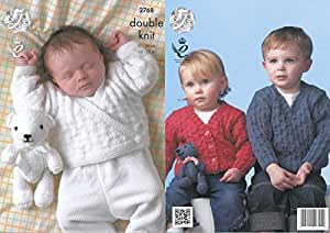King Cole Baby Sweater, Cardigan & Teddy Bear DK Knitting Pattern 2768 by King Cole