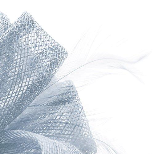 Serre-Tete Sinamai Fascinator Seeberger parure pour cheveux serre-tete bleu clair
