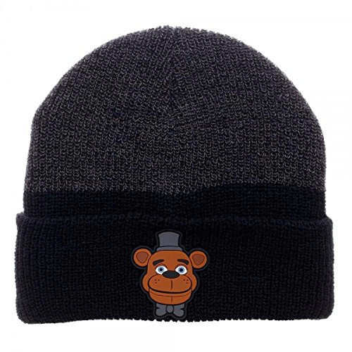 Beanie Cap - Five Nights at Freddy's - Rubber Art Marled Cuff Hat License New kc4gcnfnf