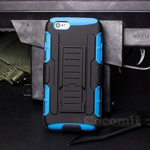 iPhone 6S Plus / iPhone 6 Plus Coque, Cocomii Robot Armor NEW [Heavy Duty] Premium Belt Clip Holster Kickstand Shockproof Hard Bumper Shell [Military Defender] Full Body Dual Layer Rugged Cover Case Étui Housse Apple (Blue)