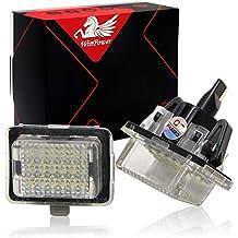 Win Power error libre LED licencia luces placa Asamblea blanco lámpara, 2 Piezas